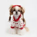 View Image 2 of Apple Blossom Dog Hoodie by Puppia - Ivory