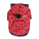 View Image 1 of Apple Blossom Dog Hoodie by Puppia - Red