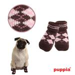 View Image 1 of Argyle Dog Socks by Puppia - Brown