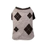 View Image 1 of Argyle Dog T-Shirt - Charcoal