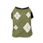 View Image 1 of Argyle Dog T-Shirt - Green