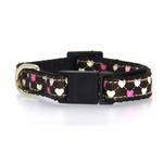 View Image 2 of Argyle Hearts Cat Collar - Brown