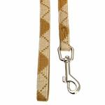 View Image 2 of Argyle Mode Dog Leash by Puppia - Beige