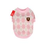 View Image 1 of Argyle Mode Dog Sweatshirt by Puppia - Pink