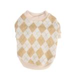 View Image 1 of Argyle Mode Dog Sweatshirt by Puppia - Beige