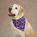 View Image 1 of Aria Boo Dog Bandana - Purple