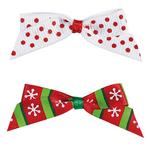 View Image 1 of Aria Candy Cane Dog Bows