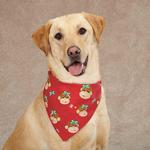 View Image 1 of Aria Holiday Monkey Business Dog Bandana - Tiff