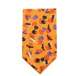 View Image 3 of Aria Spooky Dog Bandana - Orange
