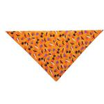 View Image 2 of Aria Spooky Dog Bandana - Orange