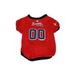 View Image 1 of Atlanta Braves Baseball Dog Jersey