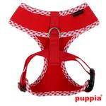 View Image 2 of Atticus Dog Harness by Puppia - Red