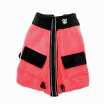 View Image 3 of Attitash Fleece Dog Jacket - Raspberry & Black