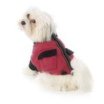 View Image 1 of Attitash Fleece Dog Jacket - Raspberry & Black