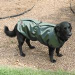 Aussie Naturals Reversible Dog Coat - Olive/Chocolate