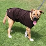 View Image 2 of Aussie Naturals Reversible Dog Coat - Olive/Chocolate