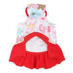 View Image 2 of Babe Dog Dress by Pinkaholic - Red