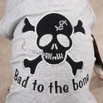 View Image 2 of Bad to the Bone Tank Top - Gray