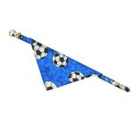 View Image 1 of Bandana Dog Collar - Blue Soccer