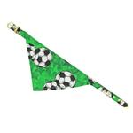 View Image 1 of Bandana Dog Collar - Green Soccer