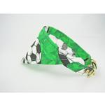 View Image 2 of Bandana Dog Collar - Green Soccer