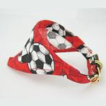 View Image 2 of Bandana Dog Collar - Red Soccer