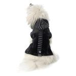 View Image 1 of Bandit's Velour Dog Hoodie - Black