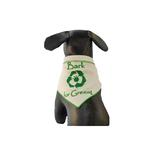 View Image 1 of Bark for Green Organic Cotton Dog Bandana