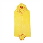 View Image 2 of Barnyard Friends Hooded Dog Towel - Duck