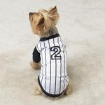 View Image 1 of Baseball Jersey - White Pinstripe