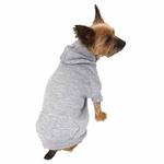 View Image 4 of Basic Dog Hoodie - Heather Gray