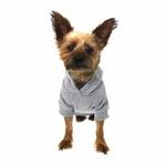 View Image 3 of Basic Dog Hoodie - Heather Gray