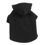 View Image 1 of Basic Fleece Dog Hoodie - Black
