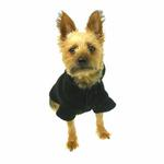 View Image 2 of Basic Fleece Dog Hoodie - Black