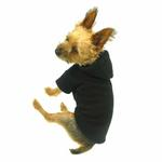 View Image 3 of Basic Fleece Dog Hoodie - Black
