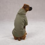 View Image 2 of Basic Fleece Dog Hoodie - Chive
