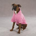 View Image 2 of Basic Fleece Dog Hoodie - Pink
