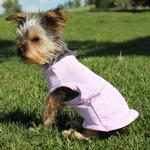 View Image 2 of Basic Tank Dog Shirt - Candy Pink