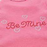 View Image 3 of Be Mine Rhinestone Dog Tank - Pink