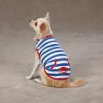 View Image 1 of Beachcomber Dog Tank by Zack & Zoey - Nautical Blue