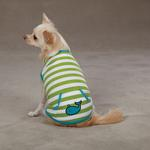 View Image 1 of Beachcomber Dog Tank by Zack & Zoey - Parrot Green
