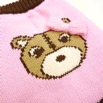 View Image 5 of Bear Sweater Dog Jumper by Dogo - Pink