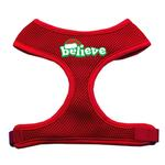 Believe Mesh Dog Harness - Red