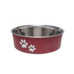View Image 1 of Bella Stainless Steel Dog Bowl - Merlot