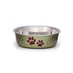 Bella Stainless Steel Dog Bowl - Pesto Green