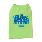 View Image 2 of Big Attitude Small Body Dog T-Shirt - Lime
