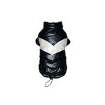 View Image 1 of Black Puffy V Dog Coat by Hip Doggie