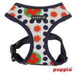 View Image 1 of Blossom Dog Harness by Puppia - Navy