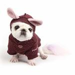 View Image 1 of Blossom Dog Hoodie by Pinkaholic - Brown