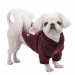 View Image 4 of Blossom Dog Hoodie by Pinkaholic - Brown
